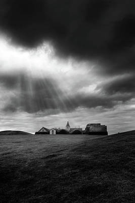 Church Photograph - Glaumbaer by Tor-Ivar Naess