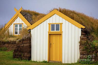 Photograph - Glaumbaer Turfhouses by Inge Johnsson