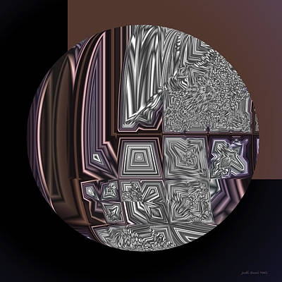 Digital Art - Glazed Chocolate Abstract by Judi Suni Hall