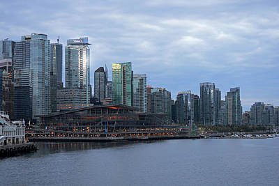 Photograph - Gleaming Cityscape. Vancouver At Dawn  by Connie Fox
