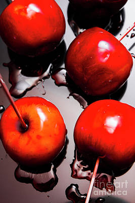 Food And Beverage Royalty-Free and Rights-Managed Images - Gleaming red candy apples by Jorgo Photography - Wall Art Gallery