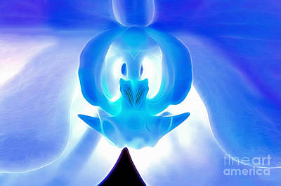 Orchid Digital Art - Gleaming With Hope by Krissy Katsimbras
