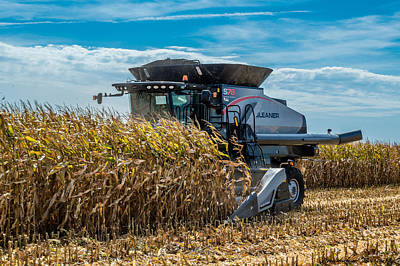Gleaners Photograph - Gleaner S78 At Work by Doug Lafuze