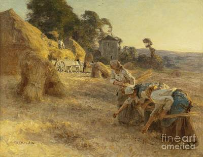 Gleaners Old Front Wheels Art Print by Celestial Images