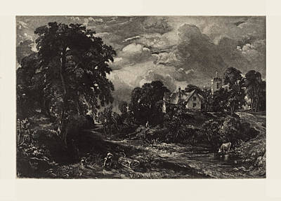 Painting - Glebe Farm by David Lucas after John Constable