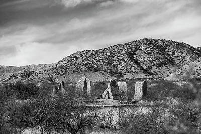 Photograph - Gleeson Arizona Ruins Gleeson Az Black And White by Toby McGuire