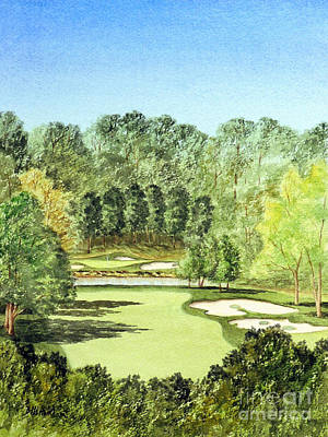 Sports Paintings - Glen Abbey Golf Course Canada 11th Hole by Bill Holkham