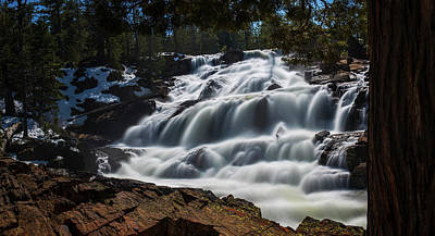 Photograph - Glen Alpine Waterfall By Brad Scott by Brad Scott