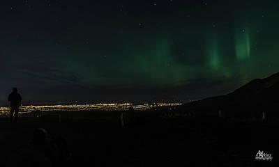 Photograph - Glen Alps Northern Lights 3 by Art Atkins