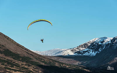 Photograph - Glen Alps Paragliding by Art Atkins