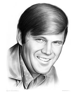 Country Drawing - Glen Campbell by Greg Joens