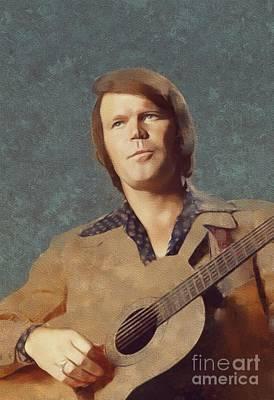 Glen Painting - Glen Campbell, Music Legend by Mary Bassett
