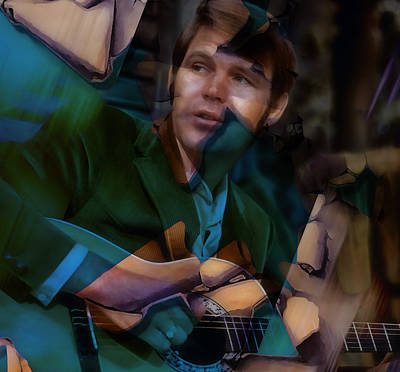Mixed Media - Glen Campbell Tribute by Marvin Blaine