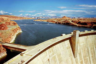 Photograph - Glen Canyon Dam by Anthony Dezenzio
