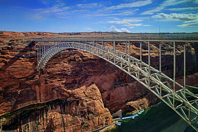 Photograph - Glen Canyon Dam Bridge - Arizona by Nikolyn McDonald