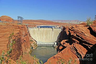 Photograph - Glen Canyon Dam by Rod Jones