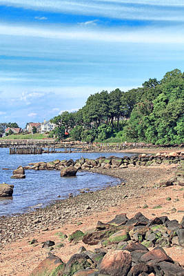 Photograph - Glen Cove Rocky Beach by Bob Slitzan