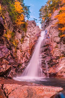 Autumn Photograph - Glen Ellis Falls by Claudia M Photography