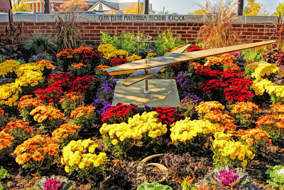 Glen Ellyn Millennium Flower Clock Art Print by Christopher Arndt