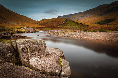 Photograph - Glen Etive by Alex Saunders