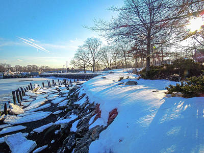 Photograph - Glen Island Snowfall by Glenn Feron