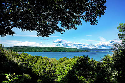Art Print featuring the photograph Glen Lake by Onyonet  Photo Studios