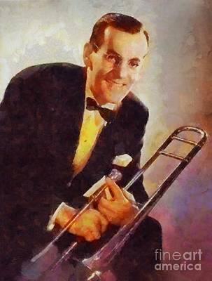 Music Paintings - Glen Miller, Music Legend by Esoterica Art Agency
