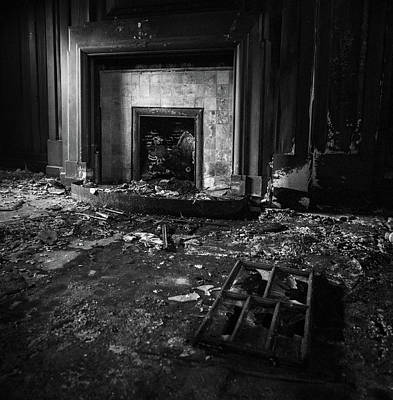 Photograph - Old Fireplace by Dave Bowman