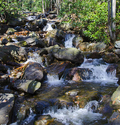 Creek Photograph - Glen Onoko Falls - Rushing Water by Bill Cannon