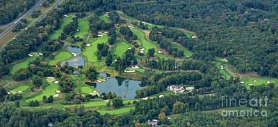 Glenarbor Golf Club Aerial Photo Art Print by David Oppenheimer