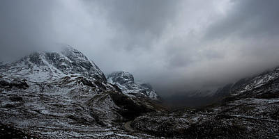 Digital Art - Glencoe - Three Sisters by Pat Speirs