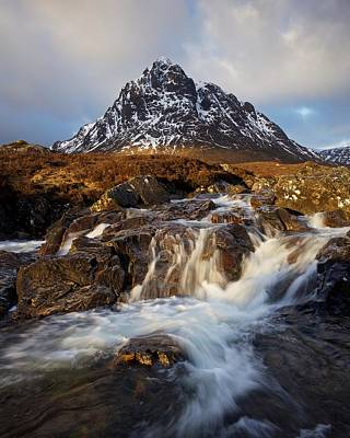 Photograph - Glencoe Waterfall by Stephen Taylor