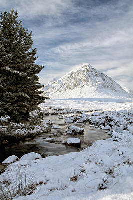Photograph - Glencoe Winter View by Grant Glendinning
