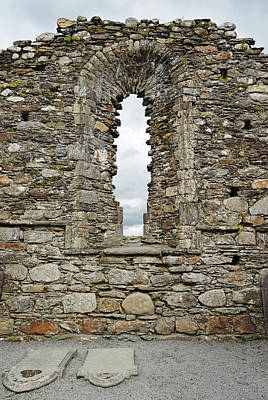 Photograph - Glendalough Irish Monastic Site Cathedral Of Saints Peter And Paul Window Wicklow by Shawn O'Brien