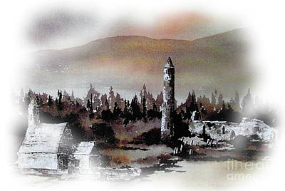 Painting - Glendalough Co. Wicklow by Val Byrne