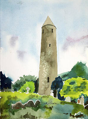Painting - Glendalough Tower by Kathleen Barnes