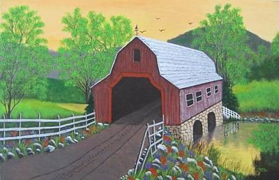Painting - Glenda's Covered Bridge by Lorraine Bradford