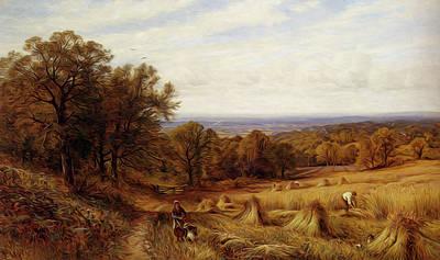 Glendening Alfred Augustus Harvest Time Art Print
