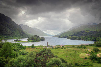 Photograph - Glenfinnan Valley by Ray Devlin