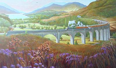 Painting - Glenfinnan Viaduct by Mike Jeffries