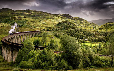 Photograph - Glenfinnan Viaduct Vista by Framing Places