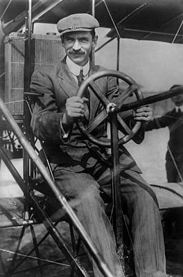 Photograph - Glenn Curtiss Piloting His Biplane by War Is Hell Store