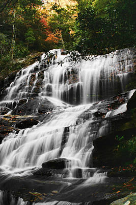 Waterfall Digital Art - Glenn Falls - Nc by Shari Jardina
