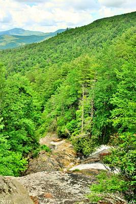 Photograph - Glenn Falls Nantahala National Forest Nc Vertical by Lisa Wooten