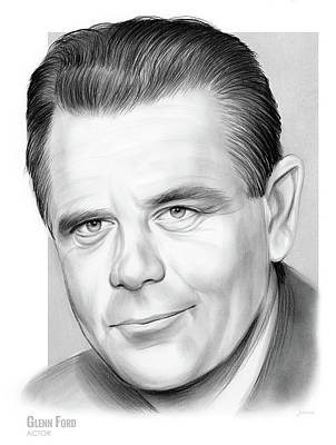 Drawings - Glenn Ford by Greg Joens
