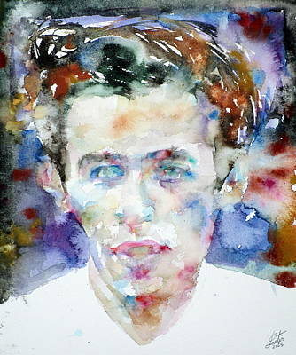 Painting - Glenn Gould - Watercolor Portrait by Fabrizio Cassetta