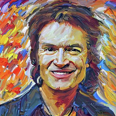 Digital Art - Glenn Hughes Deep Purple Portrait 1 by Yury Malkov