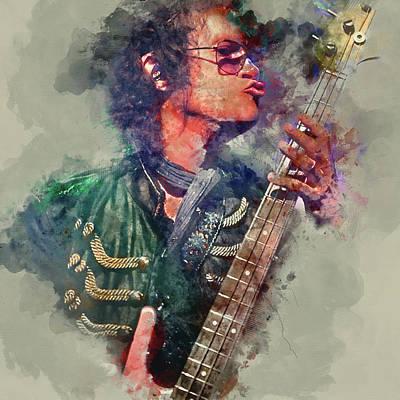 Digital Art - Glenn Hughes Deep Purple Portrait 2 by Yury Malkov