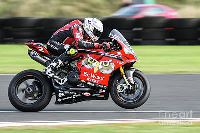 Hager Wall Art - Photograph - Glenn Irwin, Bewiser Pbm Ducati, 2016 Jas Finlay Sunflower Trophy Superbike Race by Chris McAneney