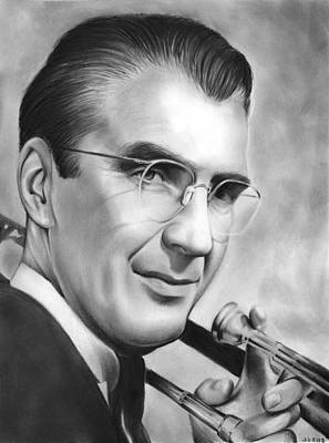 Trombone Drawing - Glenn Miller by Greg Joens